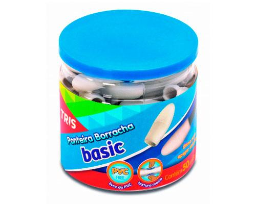 BORRACHA ESC BASIC PONTEIRA PT/50X1